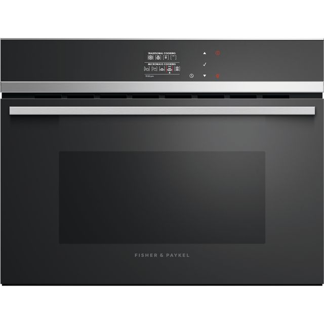 Fisher & Paykel Designer Companion OM60NDB1 Built In Combination Microwave Oven - Stainless Steel - OM60NDB1_SS - 1