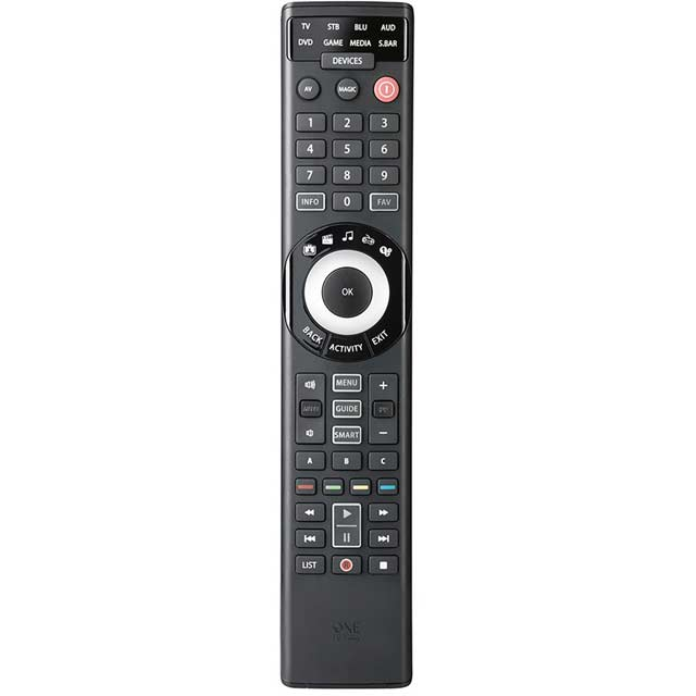 One for All URC7980 SmartControl 8 in 1 Universal Remote Control - Black