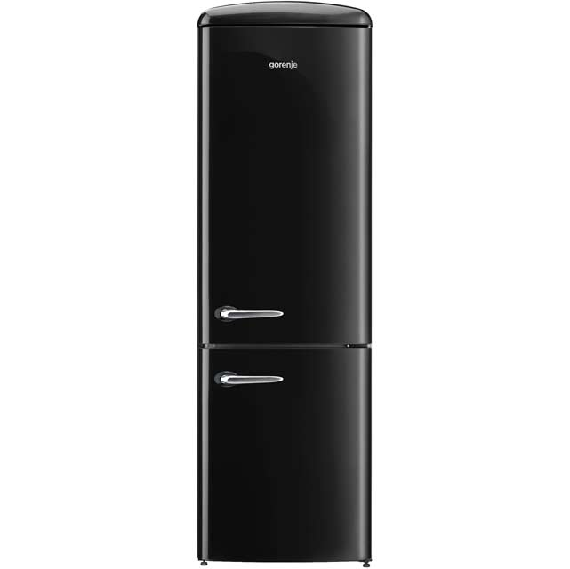 Gorenje Retro Collection ONRK193BK 70/30 Frost Free Fridge Freezer - Black - A+++ Rated - ONRK193BK_BK - 1