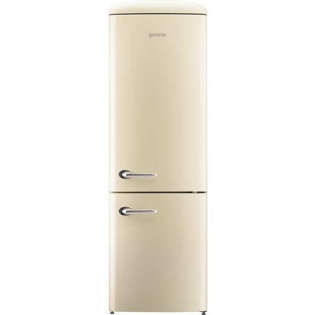 Gorenje Retro Collection ONRK193C 70/30 Frost Free Fridge Freezer - Cream - A+++ Rated - ONRK193C_CR - 1