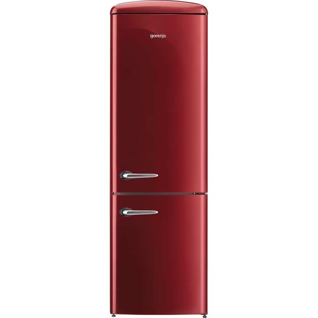 Gorenje Retro Collection ONRK193R 70/30 Frost Free Fridge Freezer - Burgundy - A+++ Rated - ONRK193R_BUR - 1
