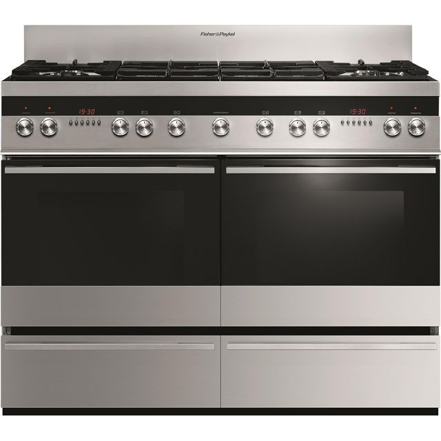 Fisher & Paykel Designer OR120DDWGX2 120cm Dual Fuel Range Cooker - Stainless Steel - A/A Rated - OR120DDWGX2_SS - 1