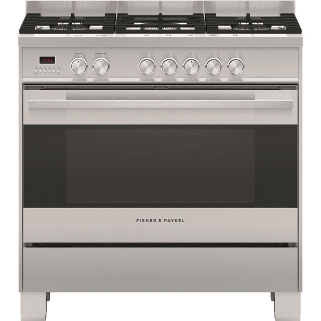 Fisher & Paykel Contemporary OR90SDG4X1 90cm Dual Fuel Range Cooker - Stainless Steel - A Rated