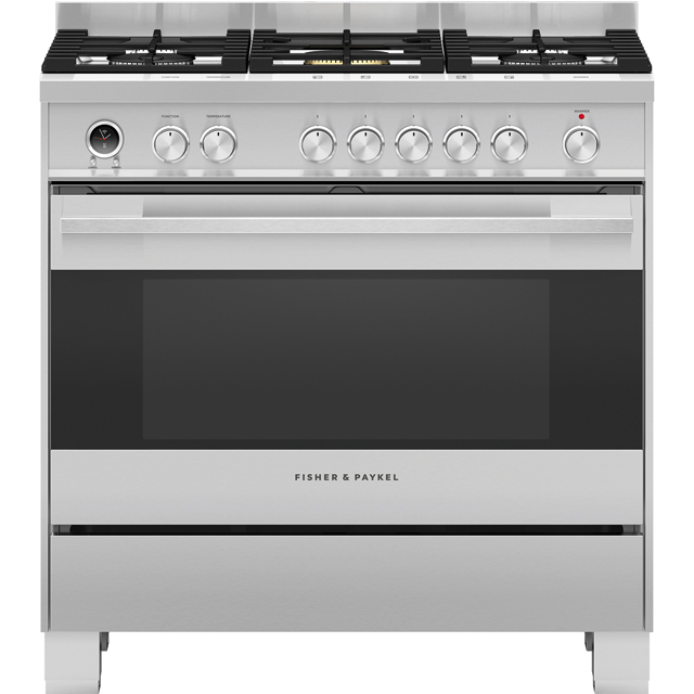 Fisher & Paykel Designer OR90SDG6X1 90cm Dual Fuel Range Cooker - Stainless Steel - A Rated - OR90SDG6X1_SS - 1