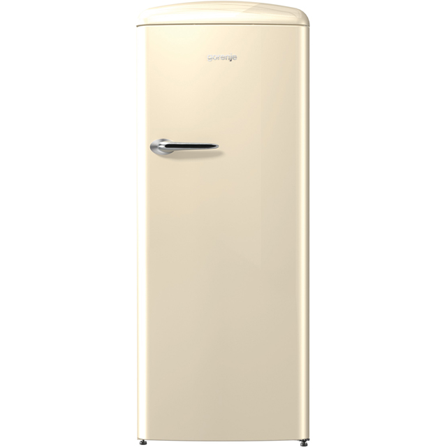 Gorenje Retro Collection ORB153C Fridge with Ice Box - Cream - A+++ Rated - ORB153C_CR - 1