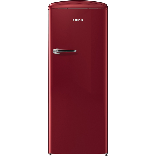 Gorenje Retro Collection ORB153R Fridge - Burgundy - ORB153R_BUR - 1