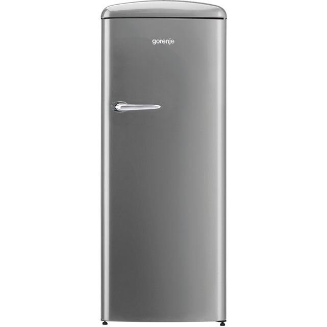 Gorenje Retro Collection ORB153X Fridge with Ice Box - Silver - A+++ Rated - ORB153X_SI - 1