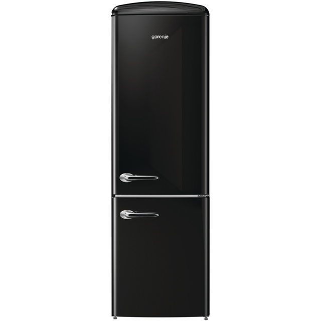 Gorenje Retro Collection ORK193BK 70/30 Fridge Freezer - Black - A+++ Rated - ORK193BK_BK - 1