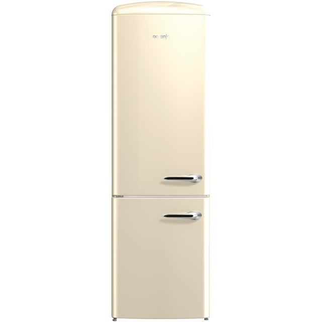 Gorenje Retro Collection ORK193C-L 70/30 Fridge Freezer - Cream - A+++ Rated - ORK193C-L_CR - 1
