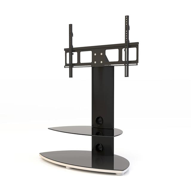 Alphason Osmium OSMB800/2-S 2 Shelf TV Stand with Bracket - Black - OSMB800/2-S - 1