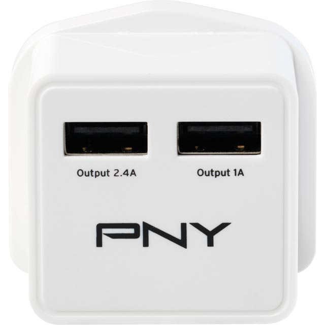 PNY P-AC-2UF-WUK01-RB Charger in White