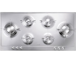 Smeg Piano Design P106ES Integrated Gas Hob in Stainless Steel