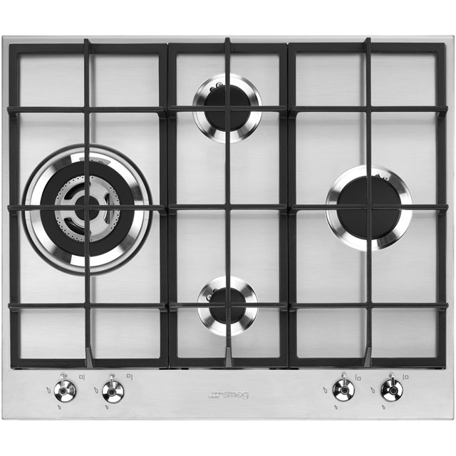 Smeg Classic PX364L 60cm Gas Hob - Stainless Steel - PX364L_SS - 1