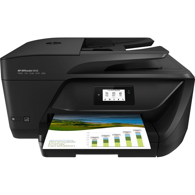 HP OfficeJet 6950 Printer - Black