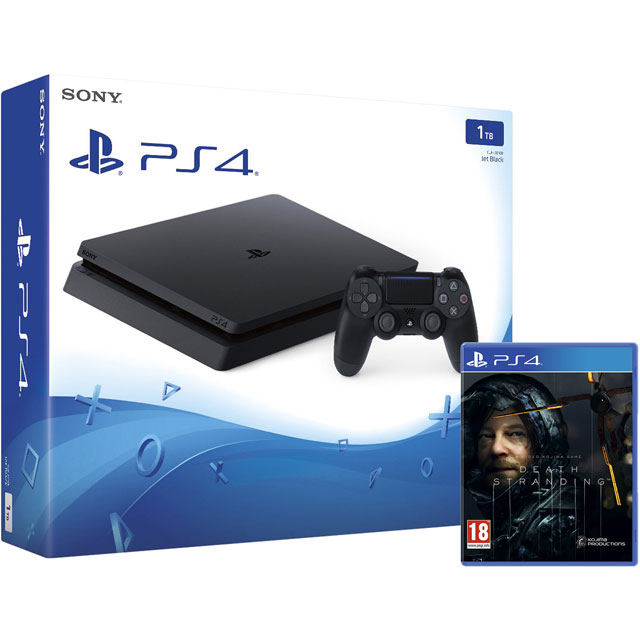 PlayStation 4 1TB with Death Stranding - Black