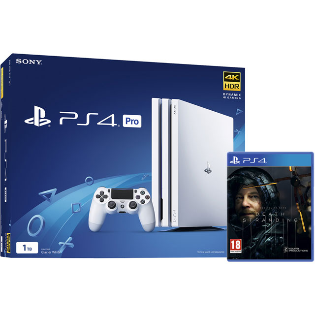 PlayStation 4 Pro 1TB with Death Stranding (Disc) - White - P4HEHWKIT58542 - 1