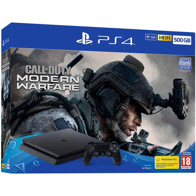 PlayStation 4 500GB with Call of Duty Modern Warfare (2019) - Black