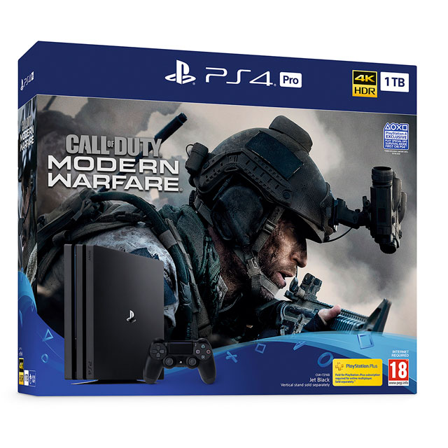 PlayStation 4 Pro 1TB with Call of Duty Modern Warfare (Disc) - Black - P4HEHWSNY32470 - 1
