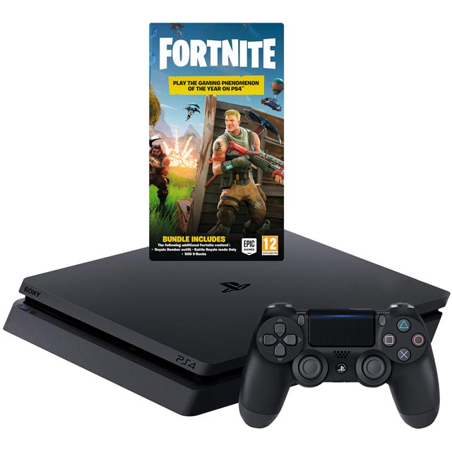 PlayStation 4 500GB with Fortnite Royal Bomber Outfit & 500 V-Bucks