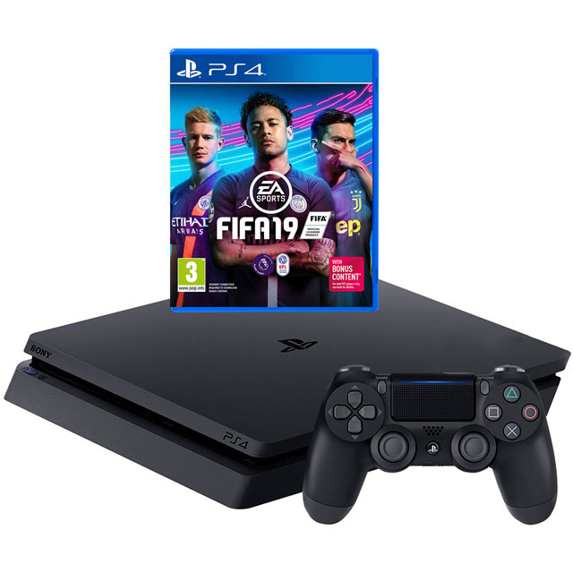 PlayStation 4 500GB with FIFA 19 - Black - P4HEHWSNY74351 - 1