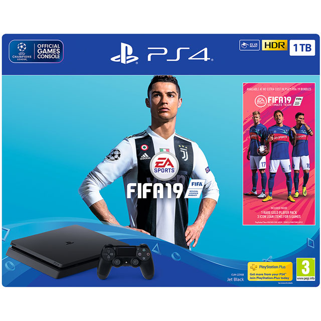 PlayStation 4 1TB with FIFA 19 (Disc) - Black