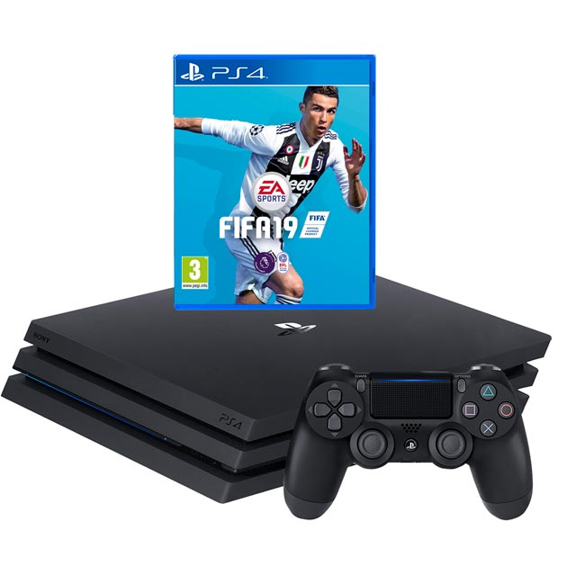 PlayStation 4 Pro 1TB with FIFA 19 - Black