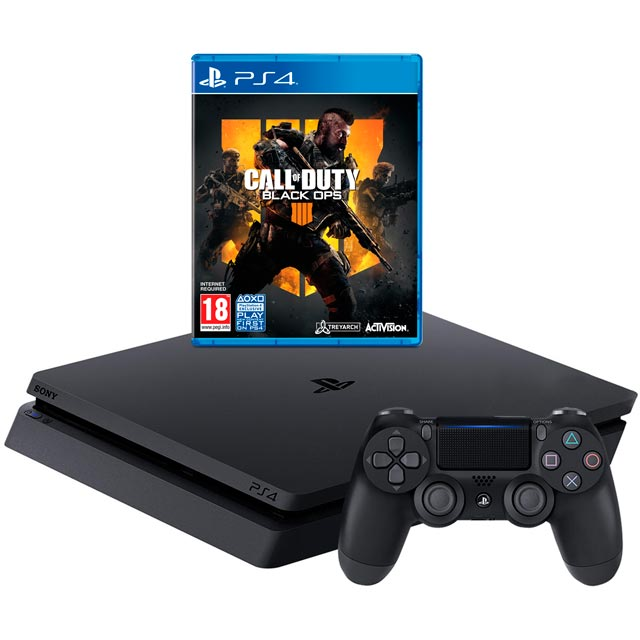 PlayStation 4 500GB with Call Of Duty Black Ops 4 - Black - P4HEHWSNY75871 - 1
