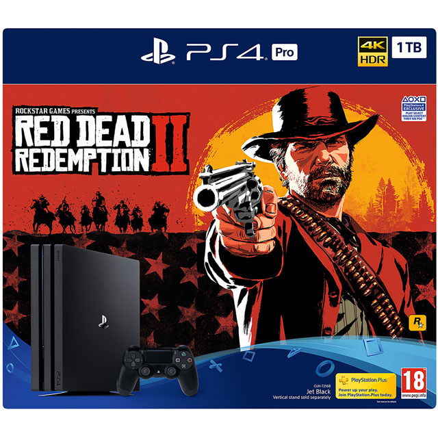 PlayStation 4 Pro 1TB with Red Dead Redemption 2 - Black - P4HEHWSNY76131 - 1