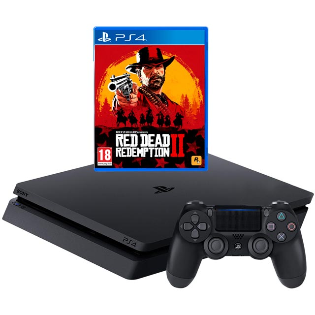 PlayStation 4 500GB with Red Dead Redemption 2 - Black - P4HEHWSNY76311 - 1