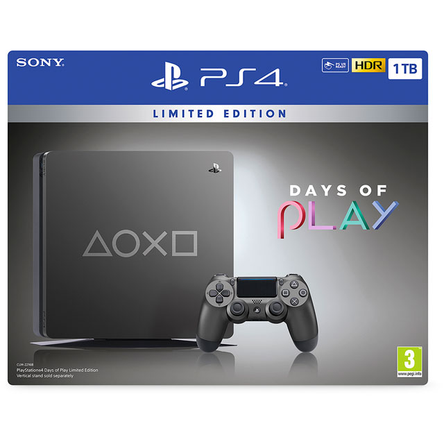 PlayStation 4 - Limited Edition Days of Play 1TB - Black - P4HEHWSNY92400 - 1