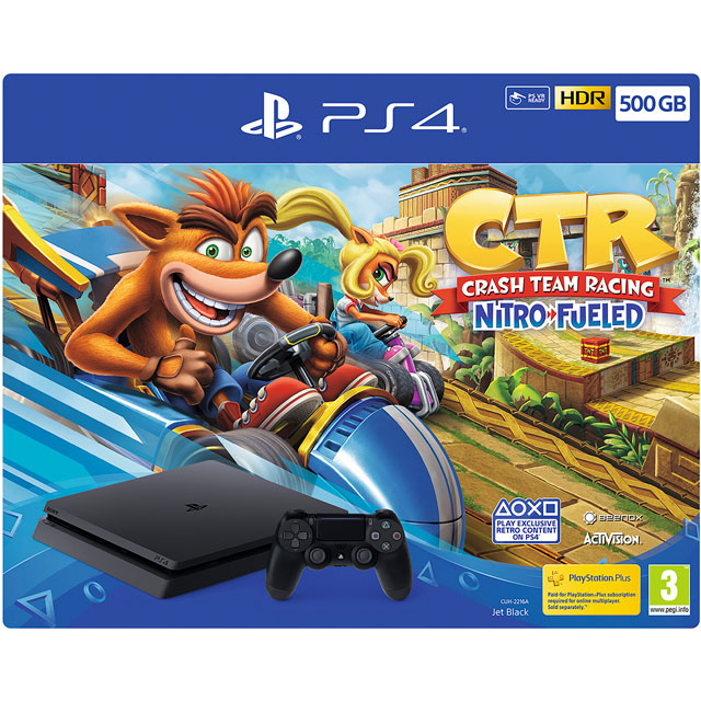 PlayStation 4 500GB with Crash Team Racing Nitro-Fueled (Disc) - Black - P4HEHWSNY93400 - 1