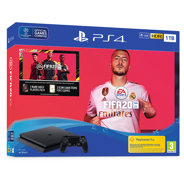 PlayStation 4 1TB with FIFA 20 - Black - P4HEHWSNY97400 - 1