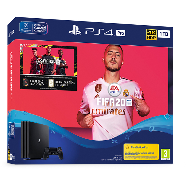 PlayStation 4 Pro 1TB with FIFA 20 - Black - P4HEHWSNY97860 - 1