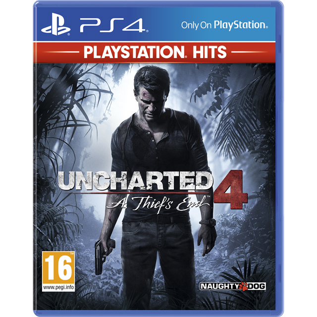 Uncharted 4: PlayStation Hits for PlayStation 4 - P4READSNY40987 - 1