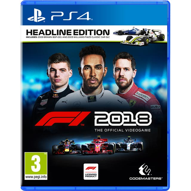 F1 2018 Headline Edition for PlayStation 4 - P4REDRKOC76304 - 1