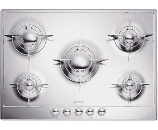 Smeg Piano Design P705ES Integrated Gas Hob in Stainless Steel
