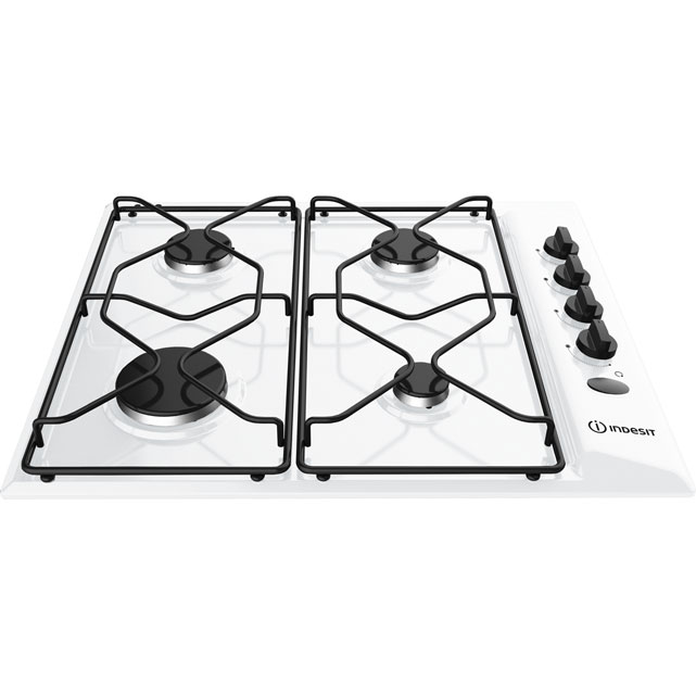 Indesit Aria PAA642/IWH Built In Gas Hob - White - PAA642/IWH_WH - 1