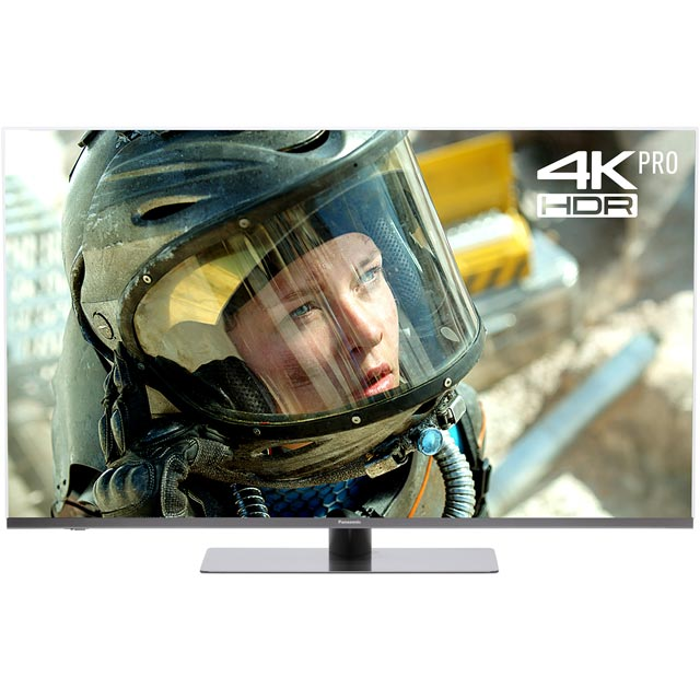 "Panasonic 55"" Smart 4K Ultra HD Certified TV with HDR and Freeview Play - Black - [A Rated]"