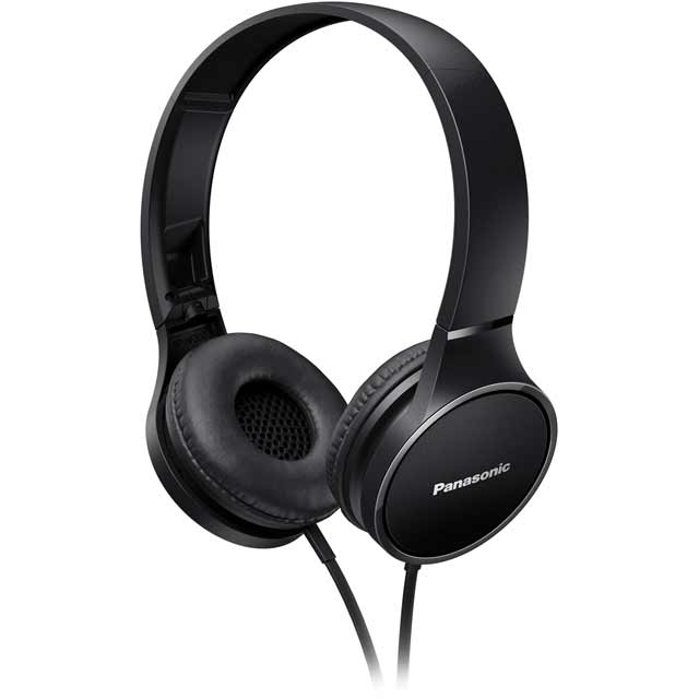 Panasonic RP-HF300ME-K On-Ear Headphones - Black - RP-HF300ME-K - 1