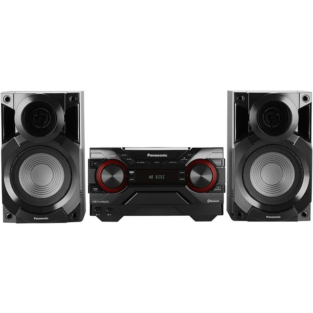 Panasonic SC-AKX200 400 Watt High Power Mini Hi-Fi System with Bluetooth - Black - SC-AKX200 - 1