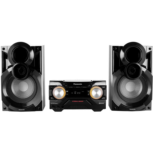Panasonic SC-AKX400 600 Watt High Power Mini Hi-Fi System with Bluetooth - Black