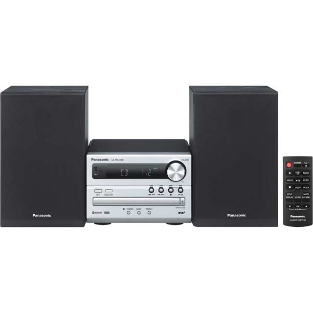 Panasonic SC-PM250BEBS 20 Watt Mini Hi-Fi System with Bluetooth - Silver - SC-PM250BEBS - 1