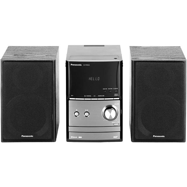 Panasonic SC-PM602 40 Watt Hi-Fi System with Bluetooth - Black