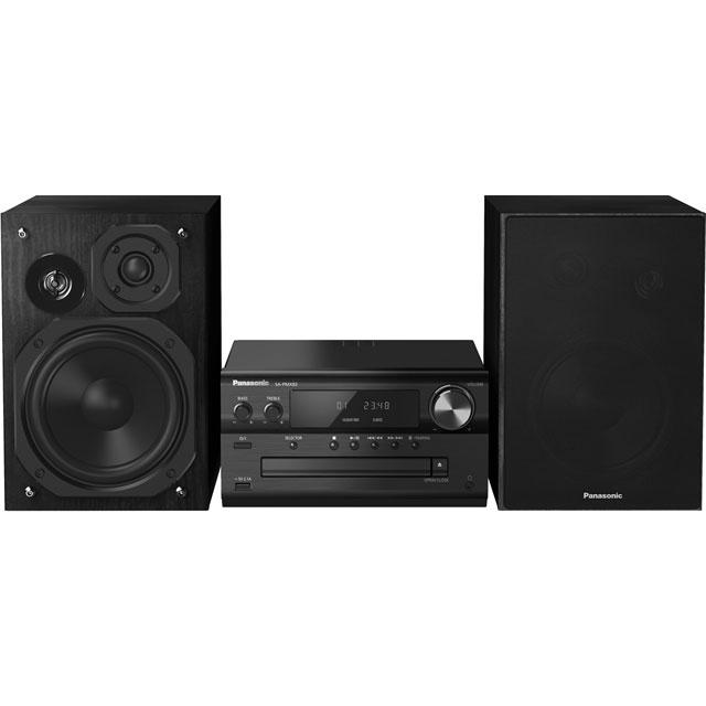 Panasonic SC-PMX82EB-K 120 Watt High-res Audio Mini Hi-Fi System with Bluetooth - Black