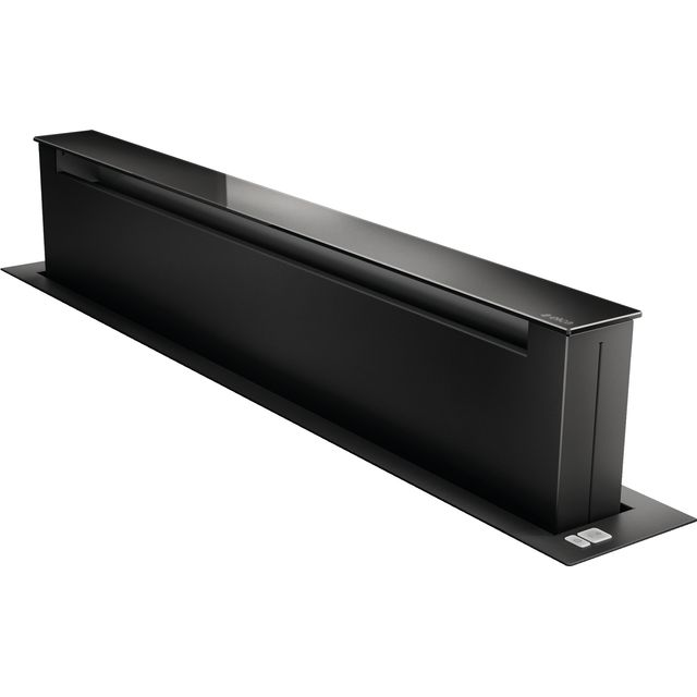 Elica PANDORA-BLK 84 cm Downdraft Cooker Hood - Black / Black Glass - A Rated - PANDORA-BLK_BKG - 1