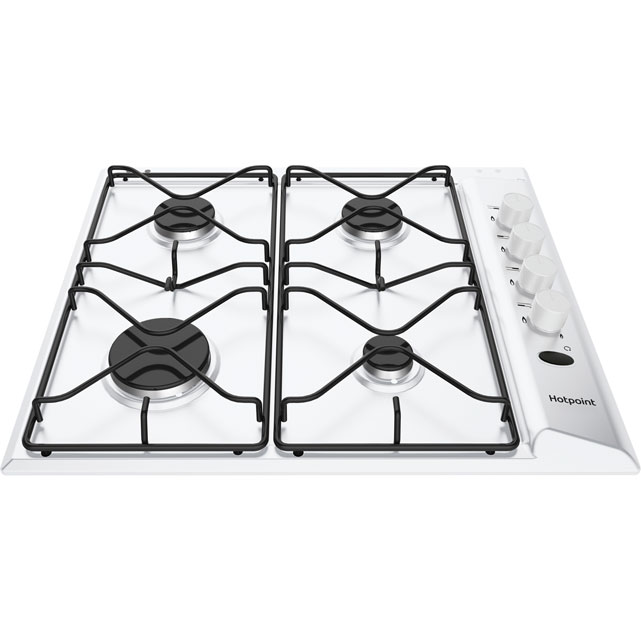 Hotpoint PAS642H Built In Gas Hob - White - PAS642H_WH - 1