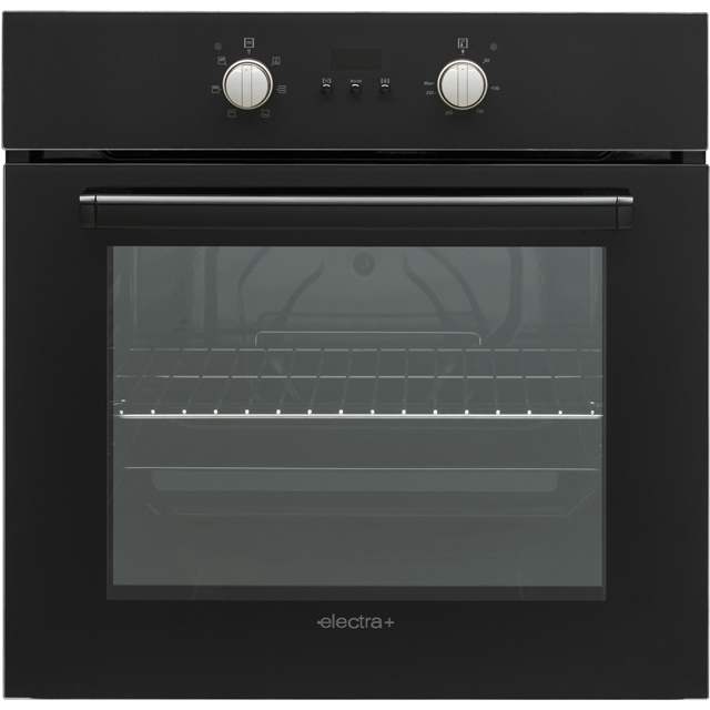 Electra+ PBISC72B Built In Compact Electric Single Oven - Black - A Rated - PBISC72B_BK - 1