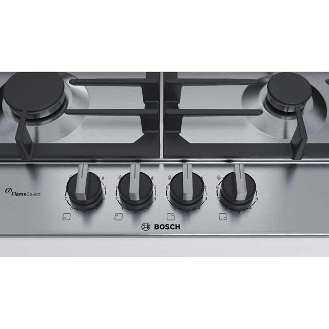 Bosch Serie 6 PCH6A5B90 Built In Gas Hob - Stainless Steel - PCH6A5B90_SS - 2