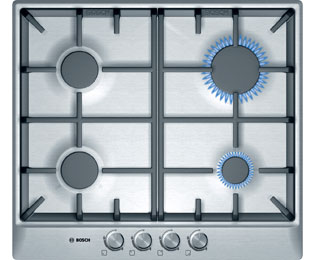 Bosch Serie 4 PCP615B90B 58cm Gas Hob - Brushed Steel