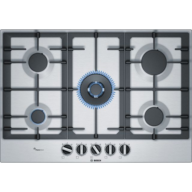 Bosch Serie 6 PCQ7A5B90 Built In Gas Hob - Stainless Steel - PCQ7A5B90_SS - 1